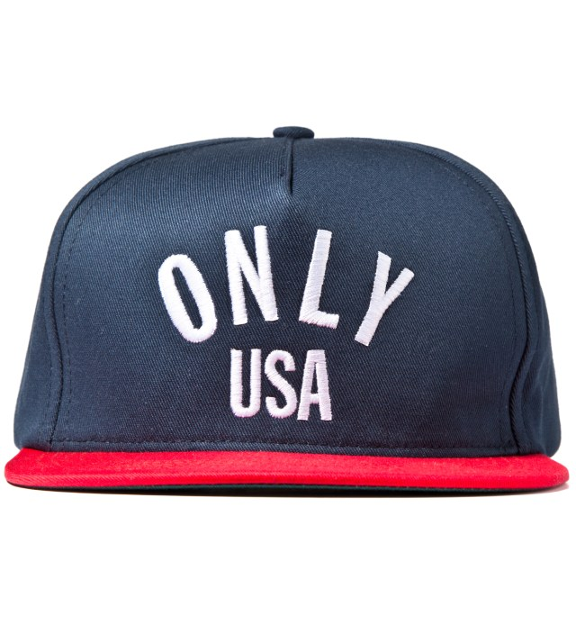 ONLY NY Navy/Red ONLY USA Snapback Cap
