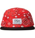 DQM Red Bayou Bandana Print 5-Panel Camp Cap