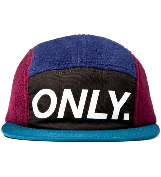 ONLY NY Bordeux/Navy Fleece Logo 5-Panel Cap