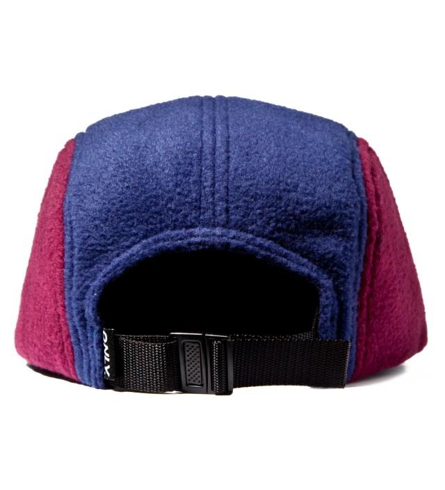 ONLY NY Bordeux/Navy Fleece Logo 5-Panel Cap