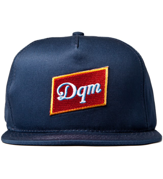 DQM Navy Dirty Water Snapback Cap