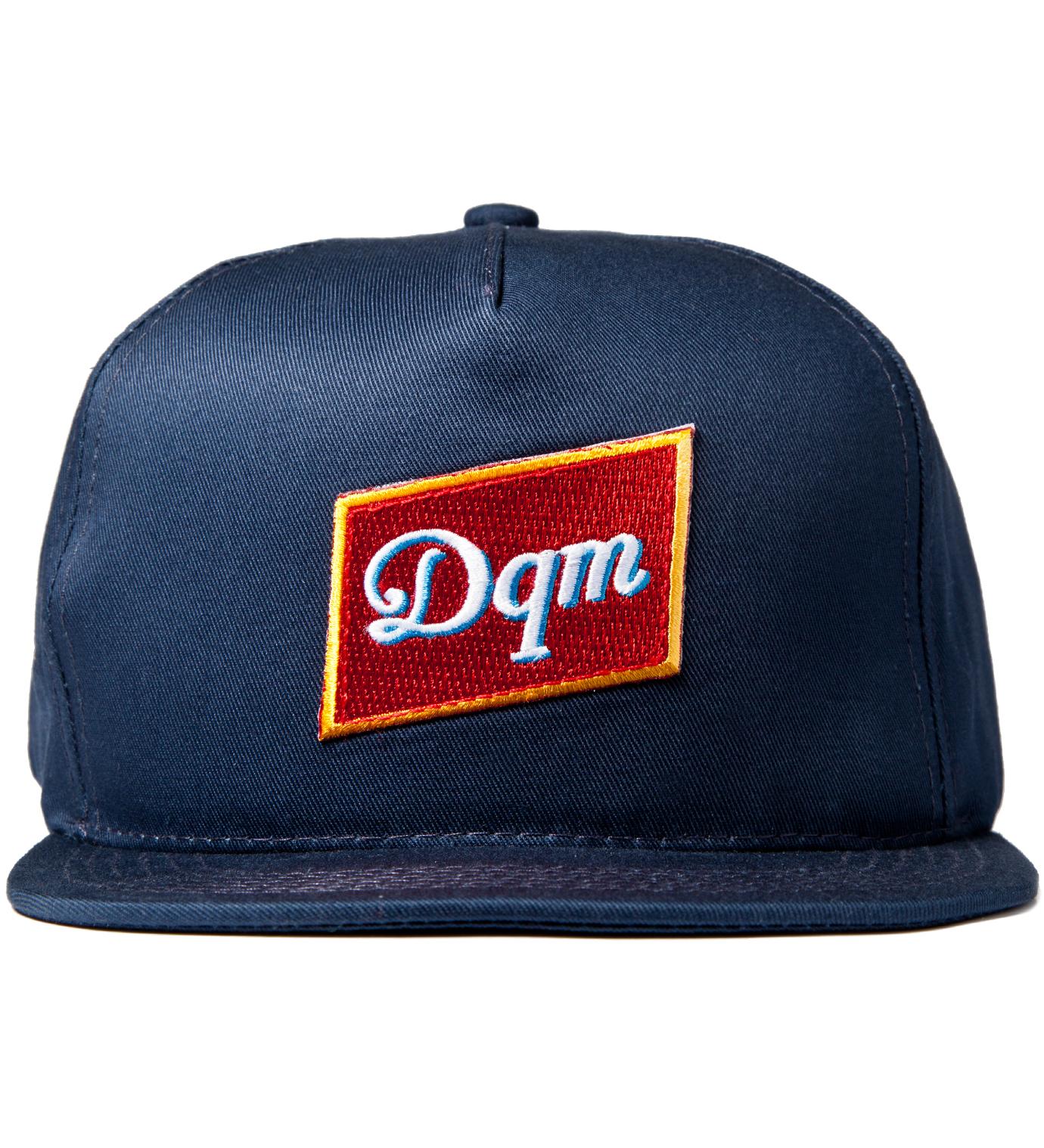 DQM Navy Dirty Water Snapback Cap
