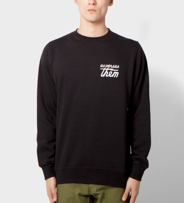 Us Versus Them Black Indivisible Crewneck