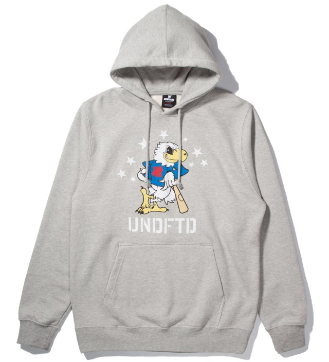 UNDEFEATED Heather Grey Eagle Undefeated Hoodie