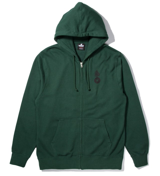Undefeated Forest Green No. 1 Bullet Zip Hoodie
