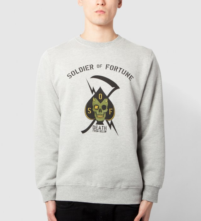UNDEFEATED Heather Grey Death From Above Crewneck