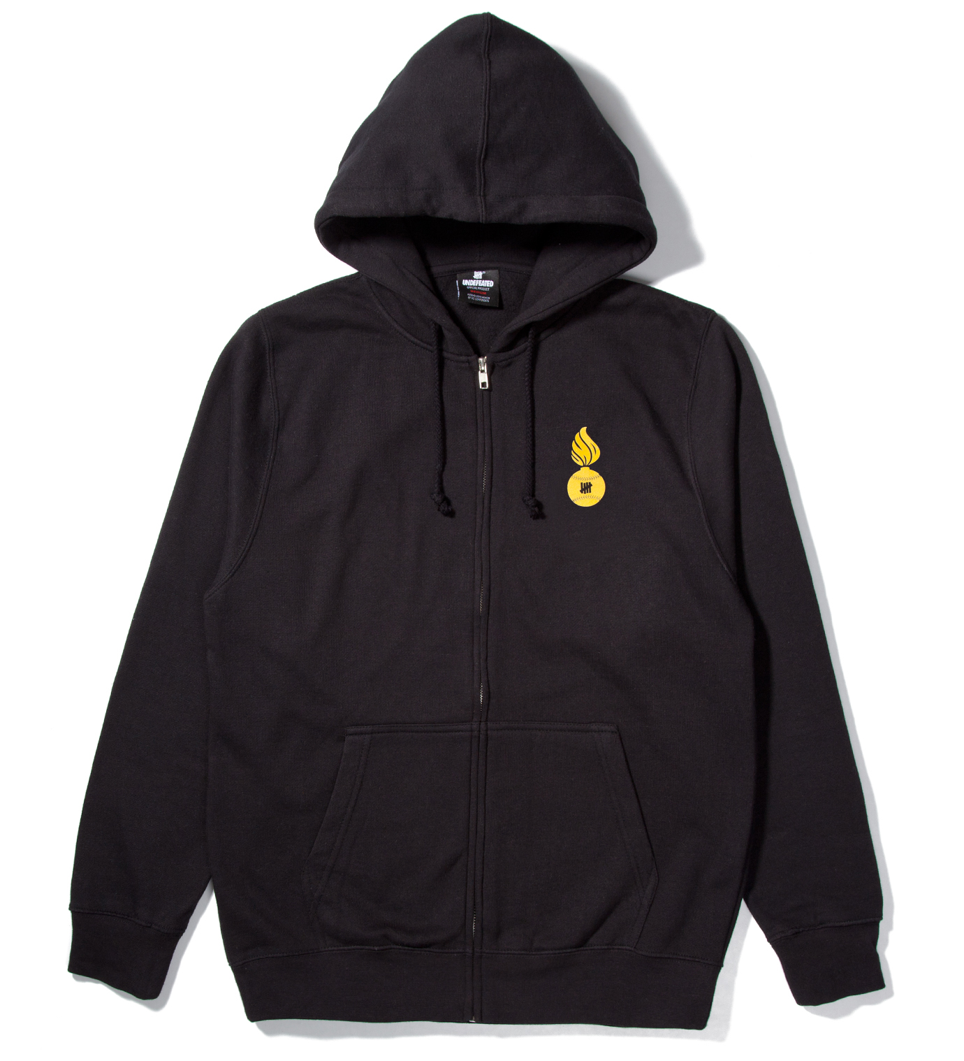 UNDEFEATED Black No. 1 Bullet Zip Hoodie