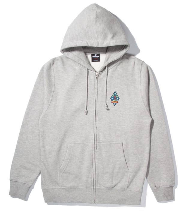 UNDEFEATED Heather Grey UND Script Zip Hoodie