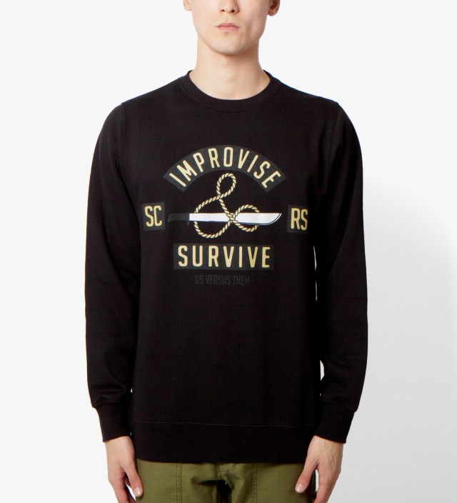 Us Versus Them Black Jungle Cruise Crewneck