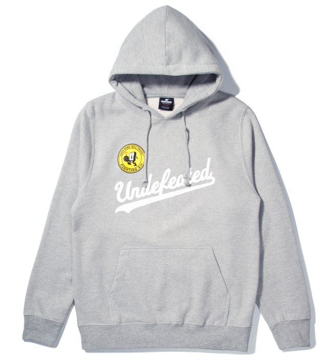 UNDEFEATED Heather Grey UND Script Hoodie
