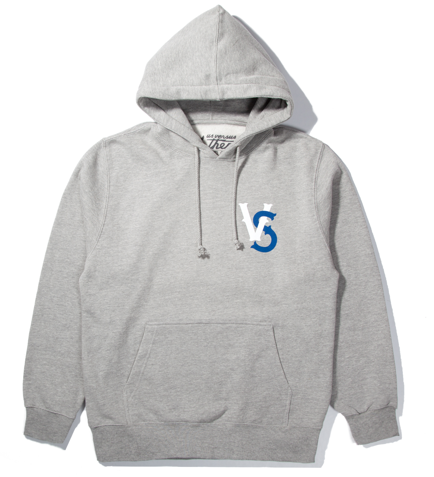 Us Versus Them Heather Grey Pennant Race Hoodie