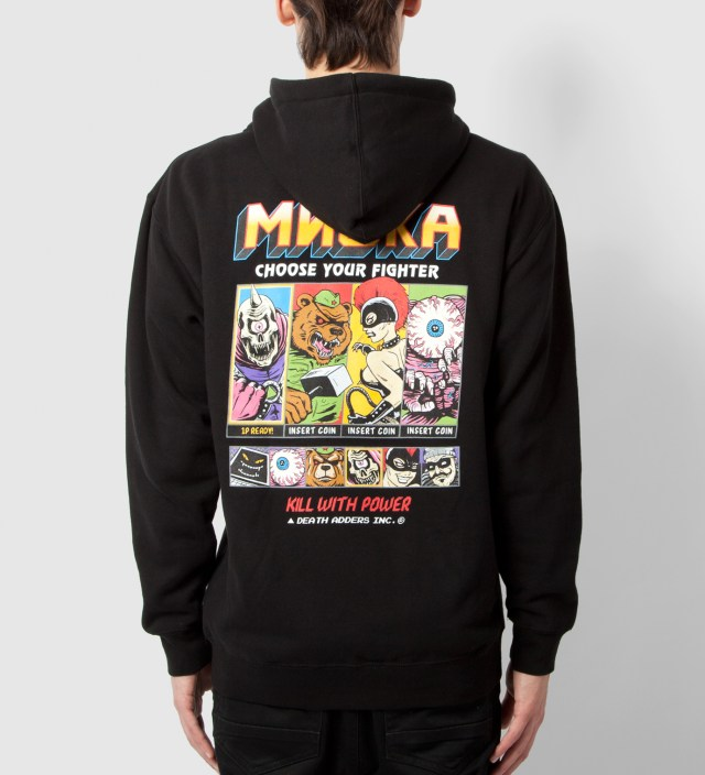 Mishka Black Choose Your Fighter Zip-Up Hoodie