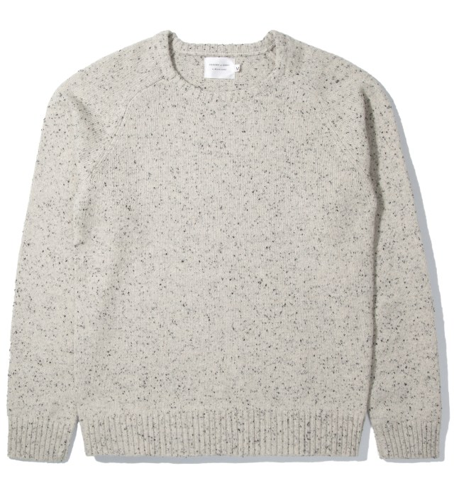 Shades of Grey by Micah Cohen Winter White Marled Crewneck Sweater