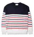 Shades of Grey by Micah Cohen Navy Parisian Stripe Sweater