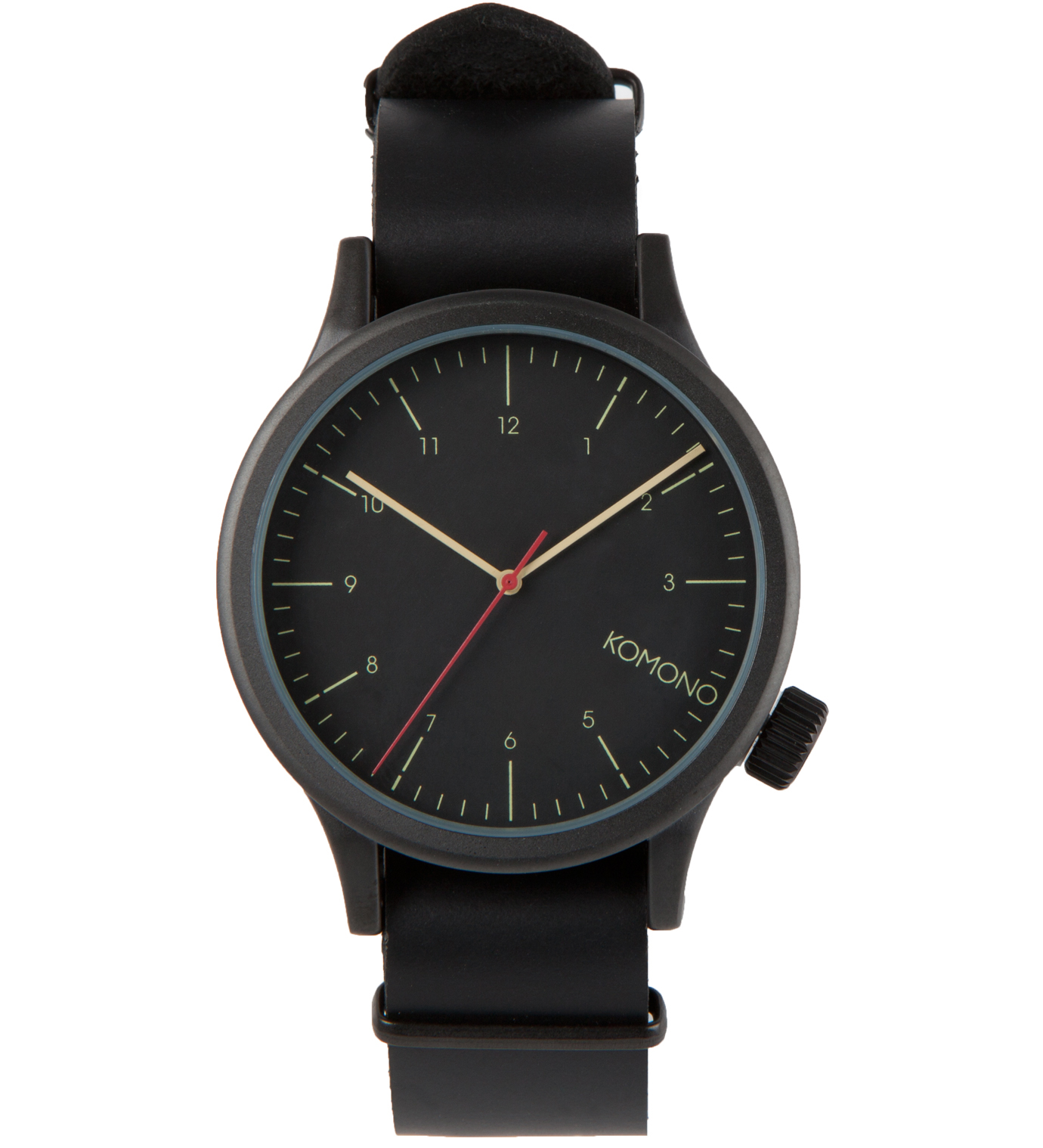 Komono Black Black Magnus Watch