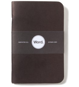 Word. Black 3 Pack Notebook Picture