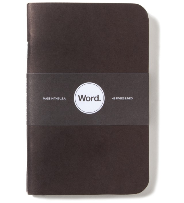 Word. Black 3 Pack Notebook