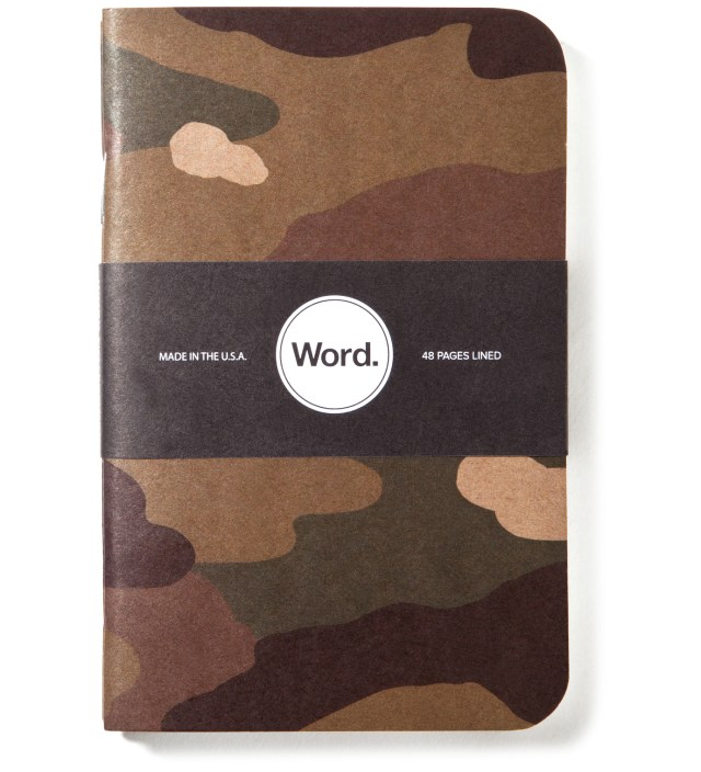 Word. Traditional Camo 3 Pack Notebook