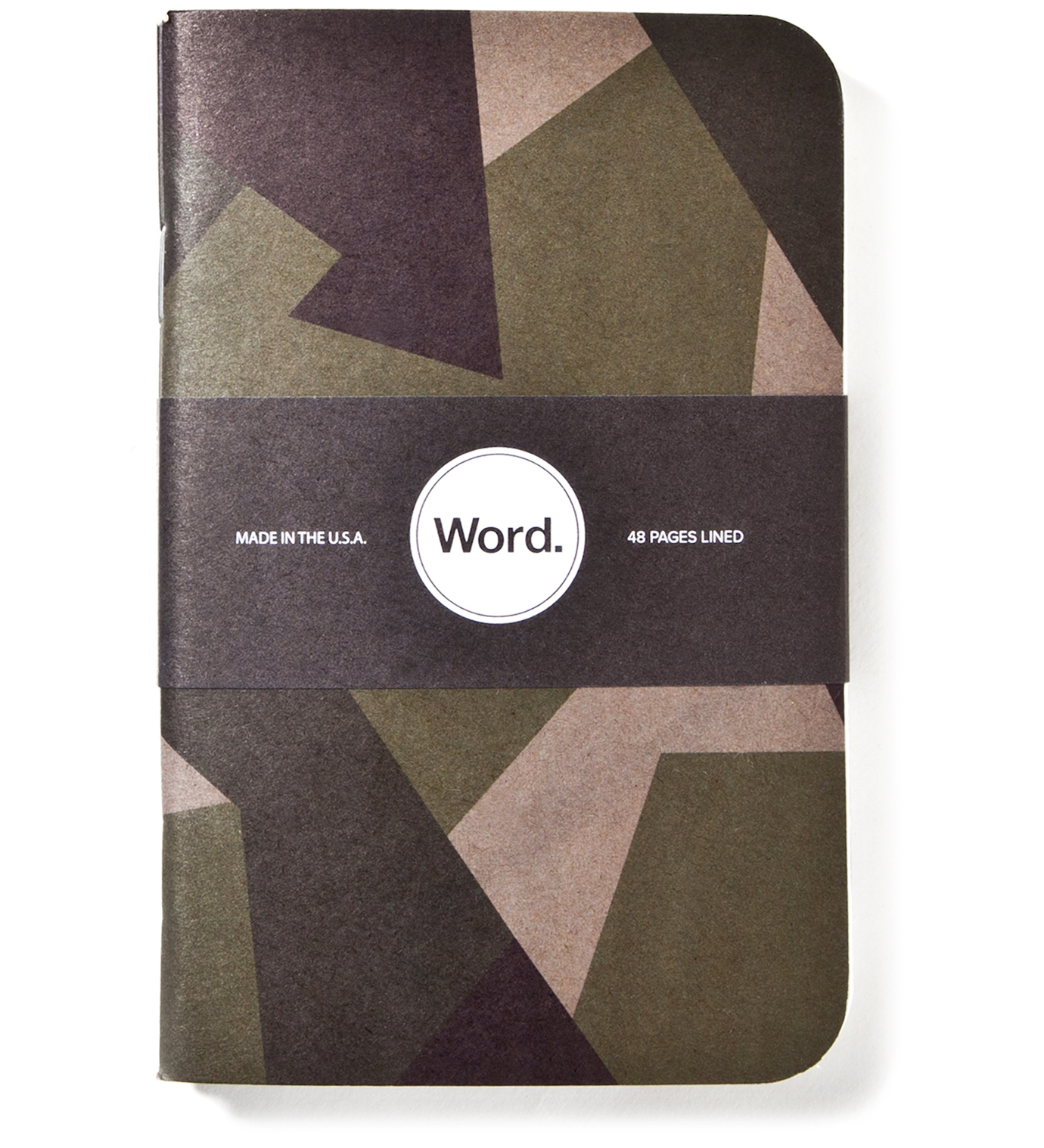 Word. Swedish Camo 3 Pack Notebook