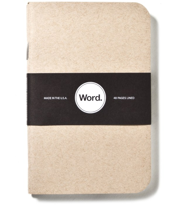 Word. Natural 3 Pack Notebook