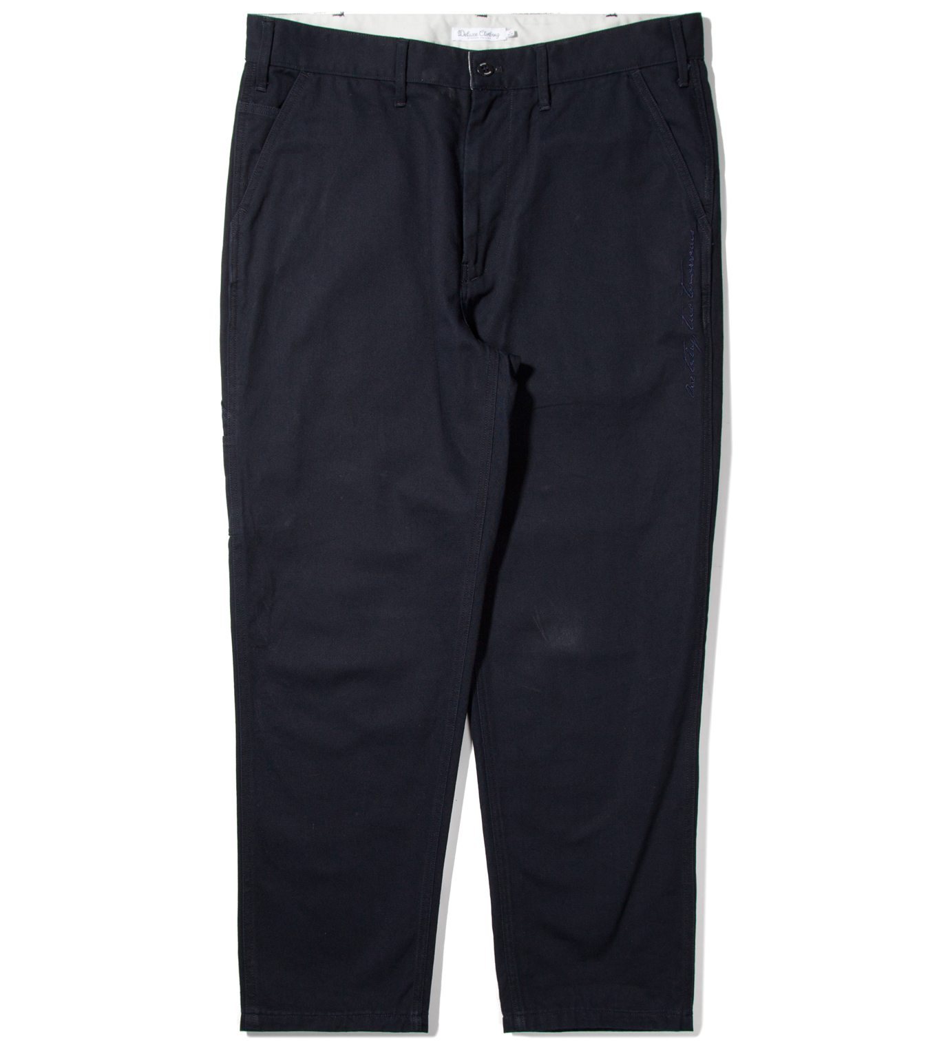 "DELUXE Deluxe for Hypebeast Navy ""Railroad"" 9/L Pants"