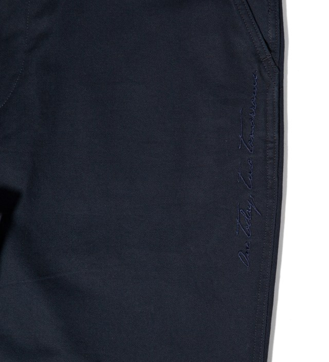 """DELUXE Deluxe for Hypebeast Navy """"Railroad"""" 9/L Pants"""