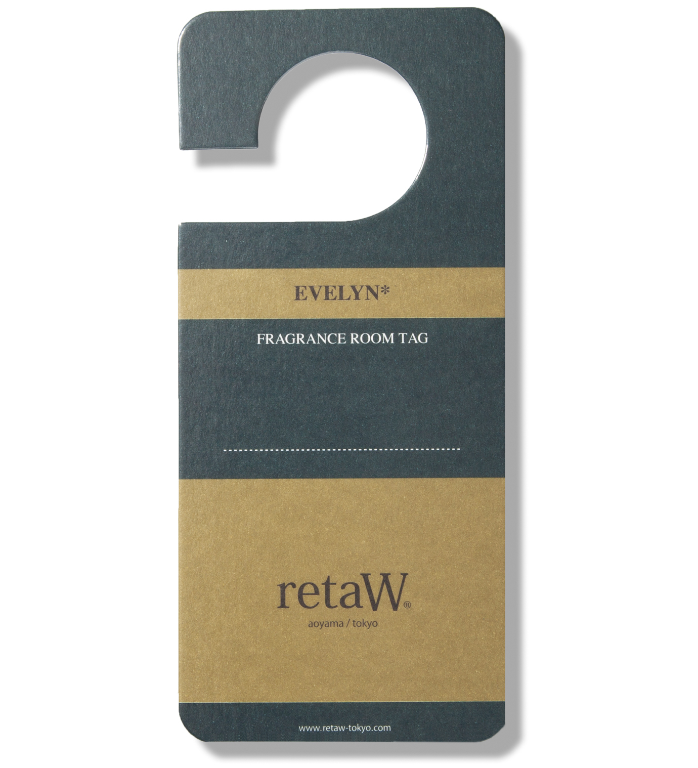 retaW Evelyn Room Tag