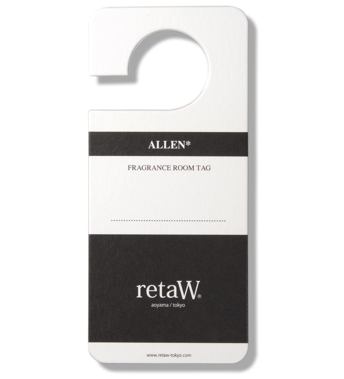 retaW Allen Room Tag