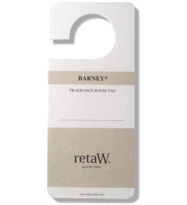 retaW Barney Room Tag