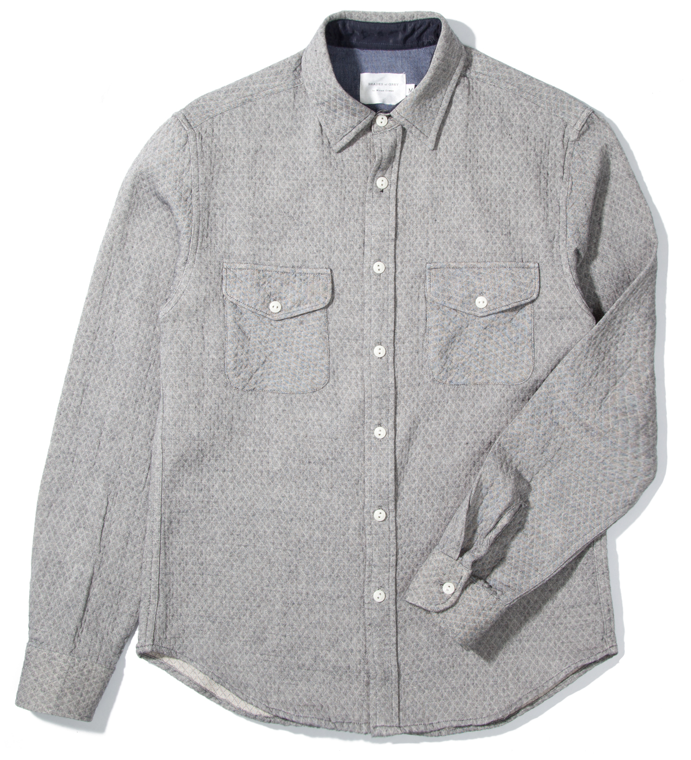 Shades of Grey by Micah Cohen Grey Diamond 2 Pocket Shirt