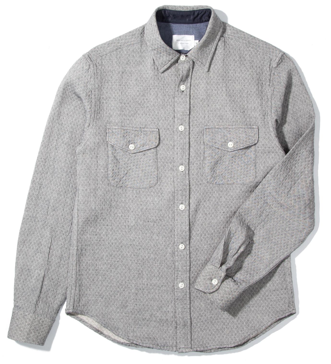 Shades of Grey by Micah Cohen Grey Diamond 2 Pocket Shirt