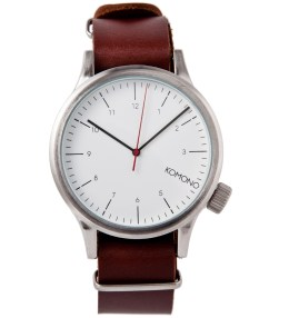KOMONO Silver Burgundy Magnus Watch Picture