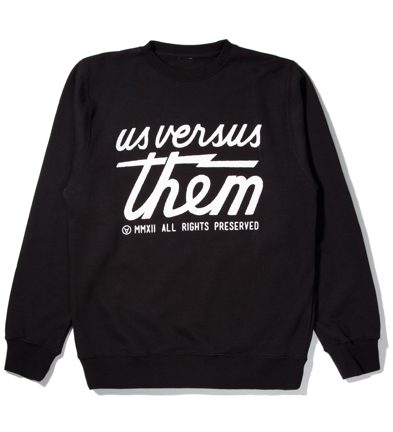 Us Versus Them Black Preserved Crewneck