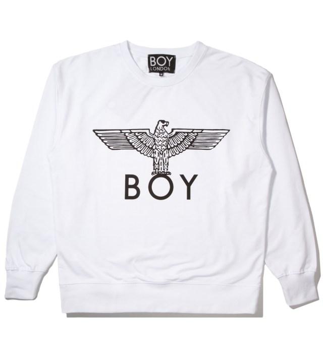 BOY London White/Black Boy Eagle Sweater