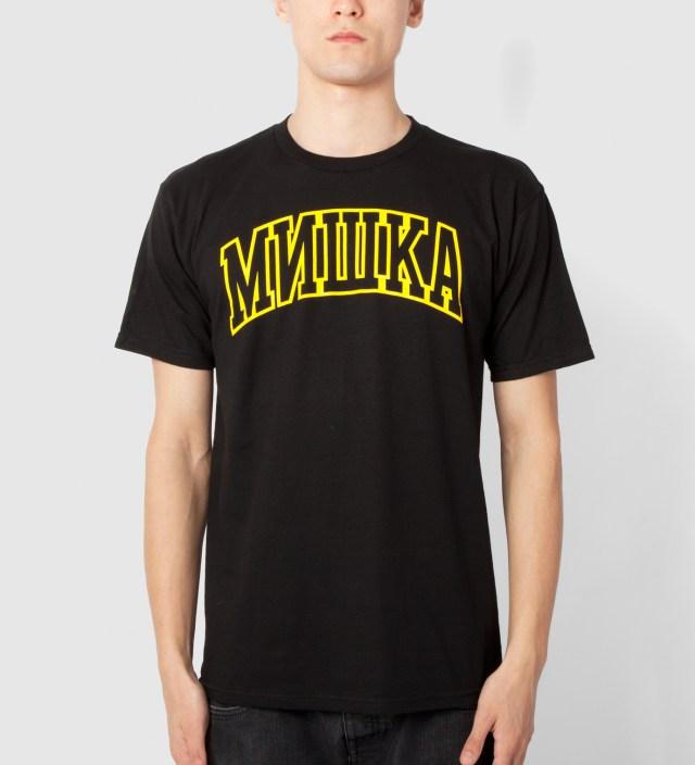 Mishka Black Cyrillic Varsity T-Shirt