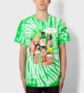 Mishka Green Tie-dye 99 Problemz (Archive) T-Shirt