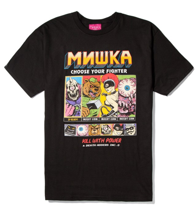 Mishka Black Choose Your Fighter T-Shirt