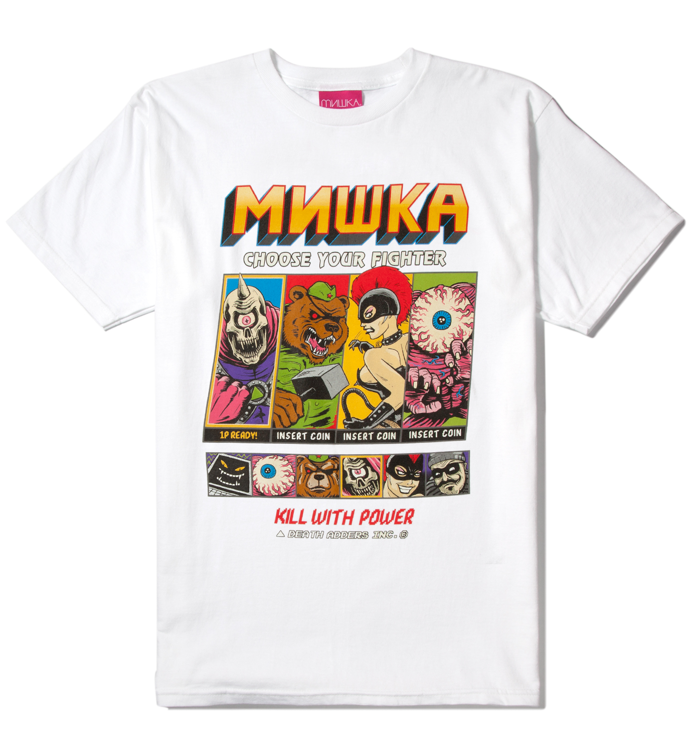 Mishka White Choose Your Fighter T-Shirt