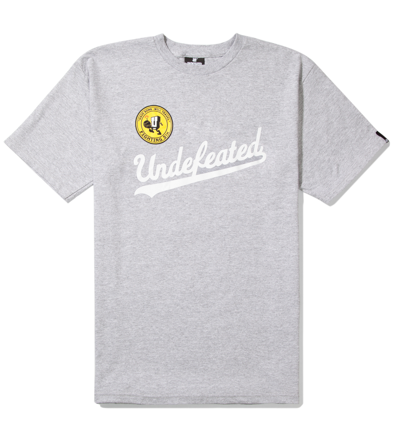 UNDEFEATED Heather Grey UND Script T-Shirt