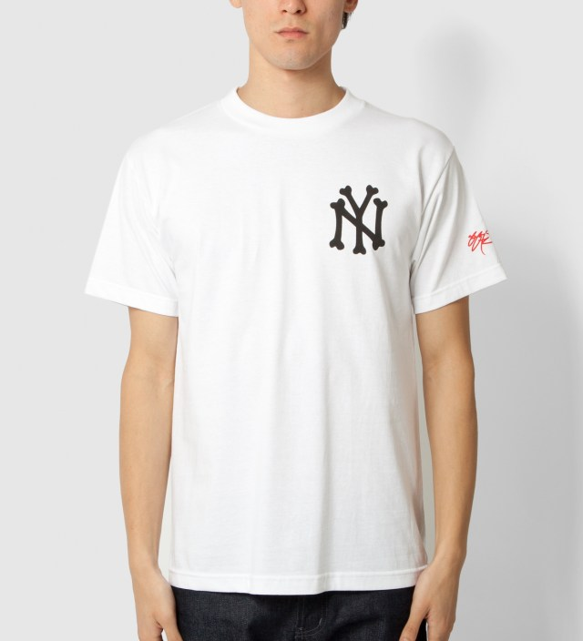 SSUR White NY Bones T-Shirt