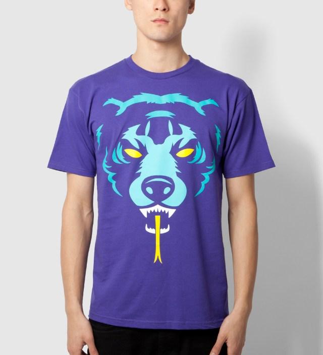 Mishka Purple Oversize Adder T-Shirt