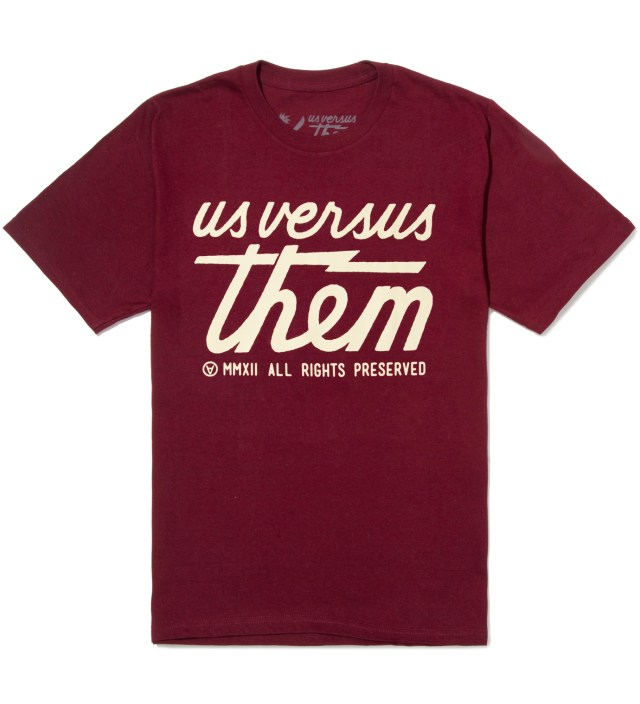 Us Versus Them Wine Preserved T-Shirt