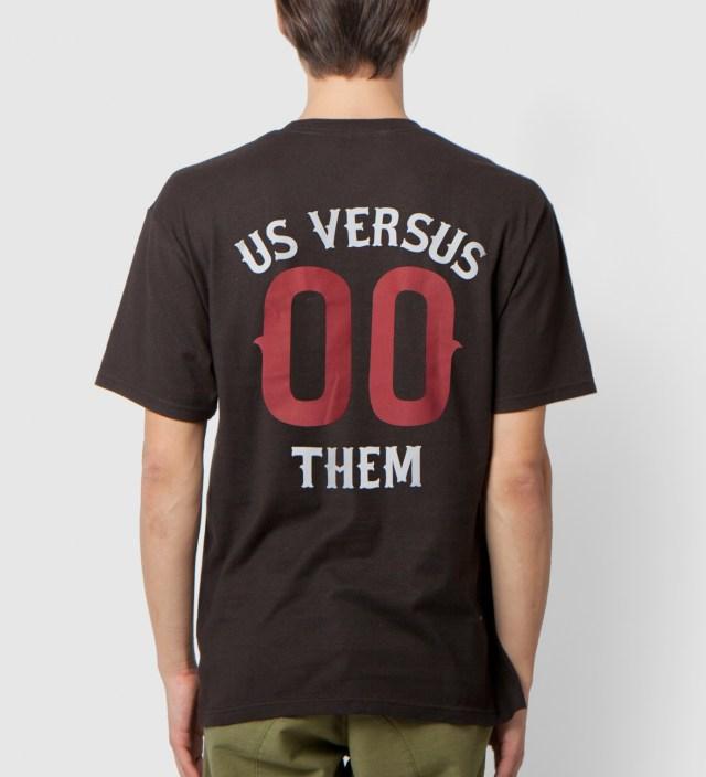 Us Versus Them Black Pennant Race T-Shirt