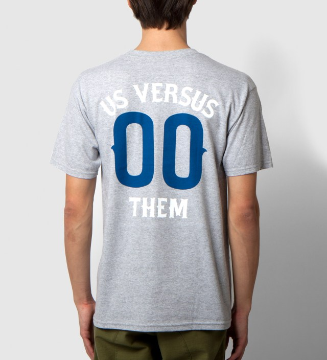 Us Versus Them Heather Grey Pennant Race T-Shirt