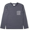 Shades of Grey by Micah Cohen Sailor Stripe L/S Crewneck T-Shirt