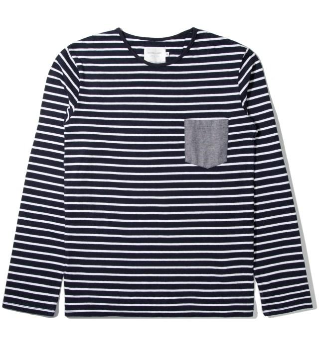Shades of Grey by Micah Cohen Sailor Stripe L/S Crewneck T-Shirt