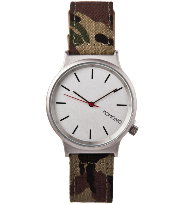 KOMONO Woodland Camo Wizard-Print Watch