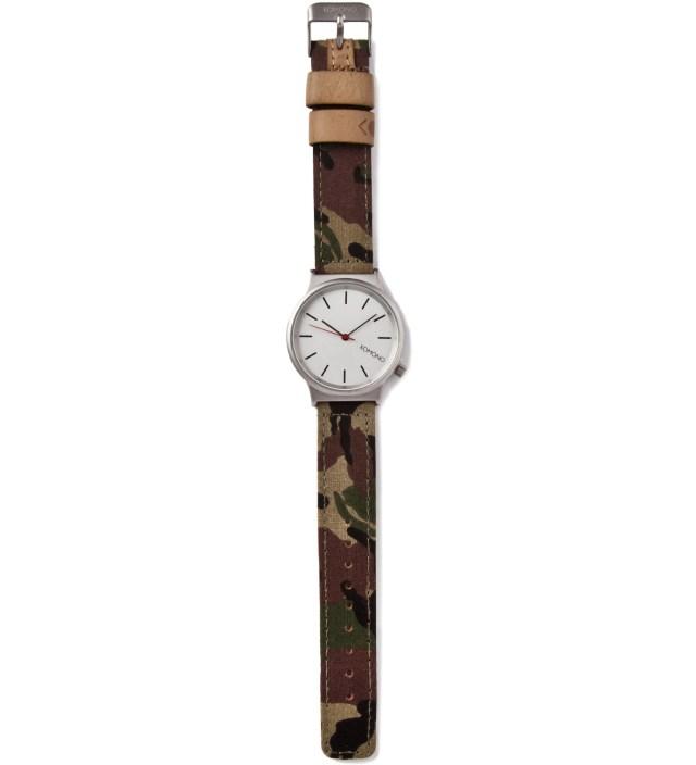 KOMONO Woodland Camo Wizard-Print Watch