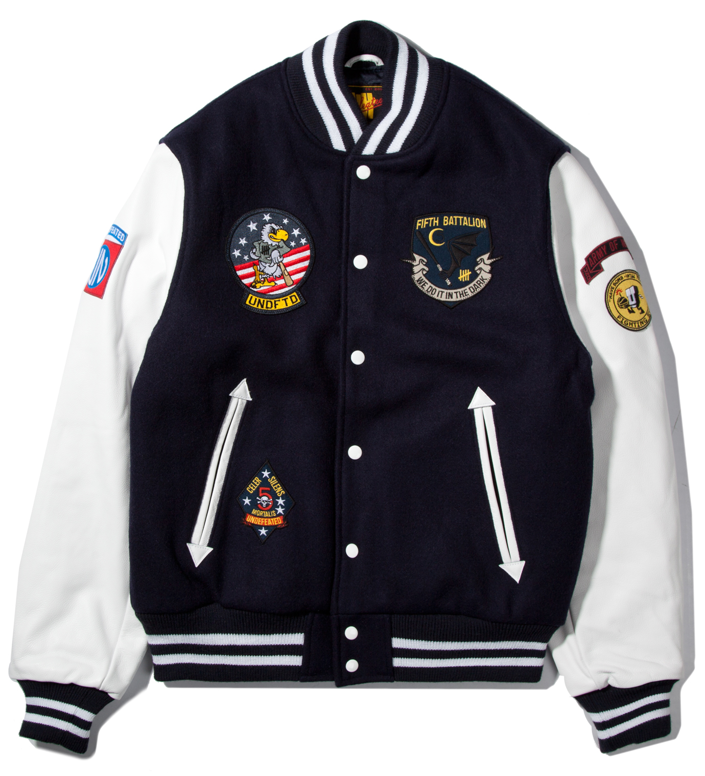 UNDEFEATED Navy UNDFTD Strike Team Varsity Jacket