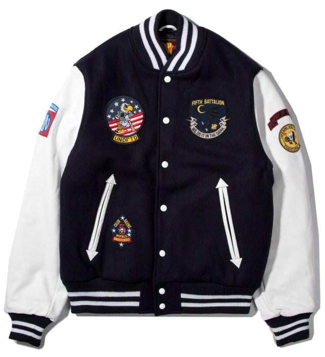 UNDEFEATED Navy UNDFTD Strike Team Varsity Jacket